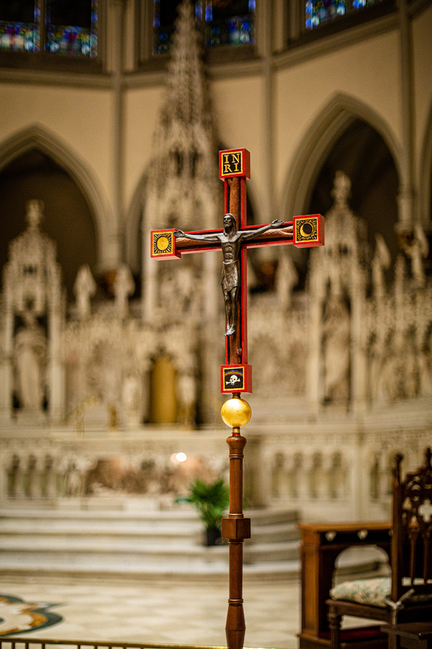 The La Monica Cross was first used for the 1995 papal mass in Central Park